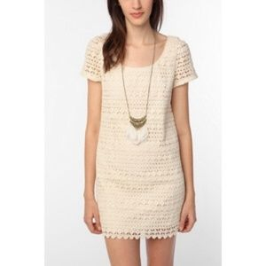Staring at Stars Crochet Short Sleeve Dress S